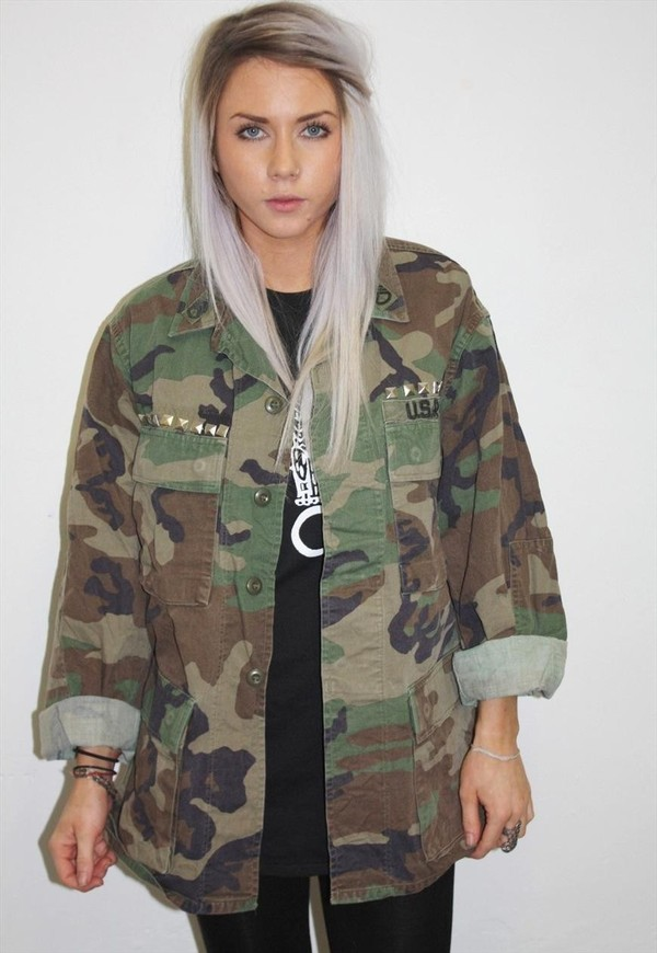 leather chairs target round reading chair hipster studded camo army jacket from new spirit boutique on storenvy