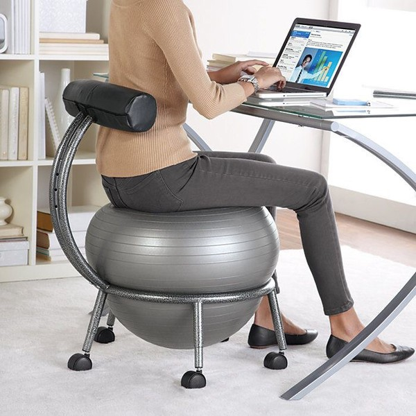 ball chair amazon neutral posture guardian com safco products zenergy vinyl bv black home accessory fitness desk mothers day gift idea