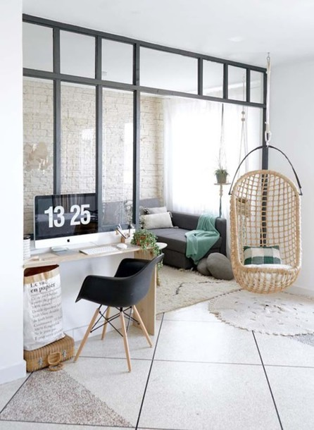 hanging chair in living room okin lift home accessory tumblr decor furniture office