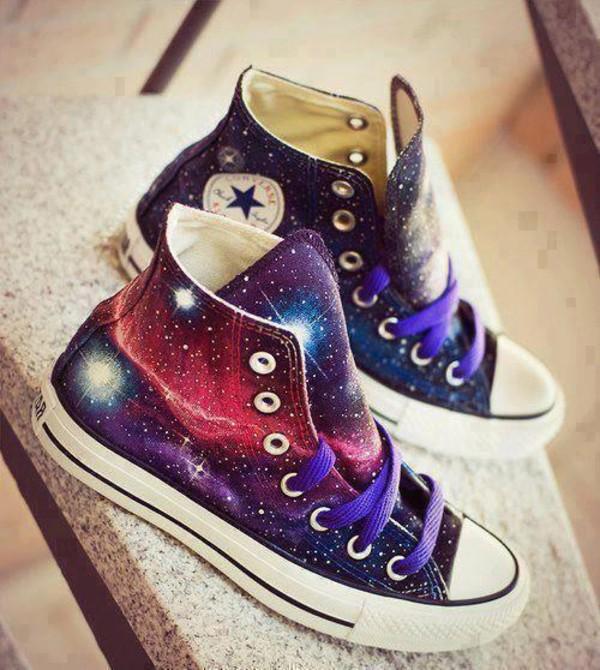 Shoes Galaxy Print Swag Purple Converse Wow Chuck