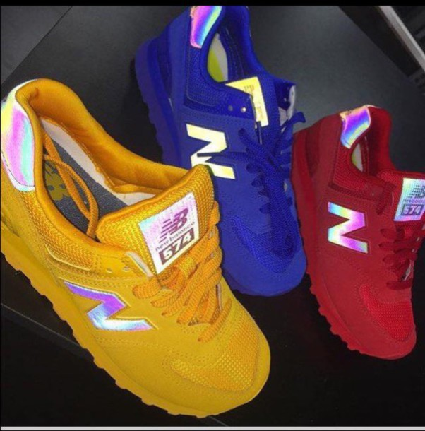 Shoes customized new balance holographic hologram new
