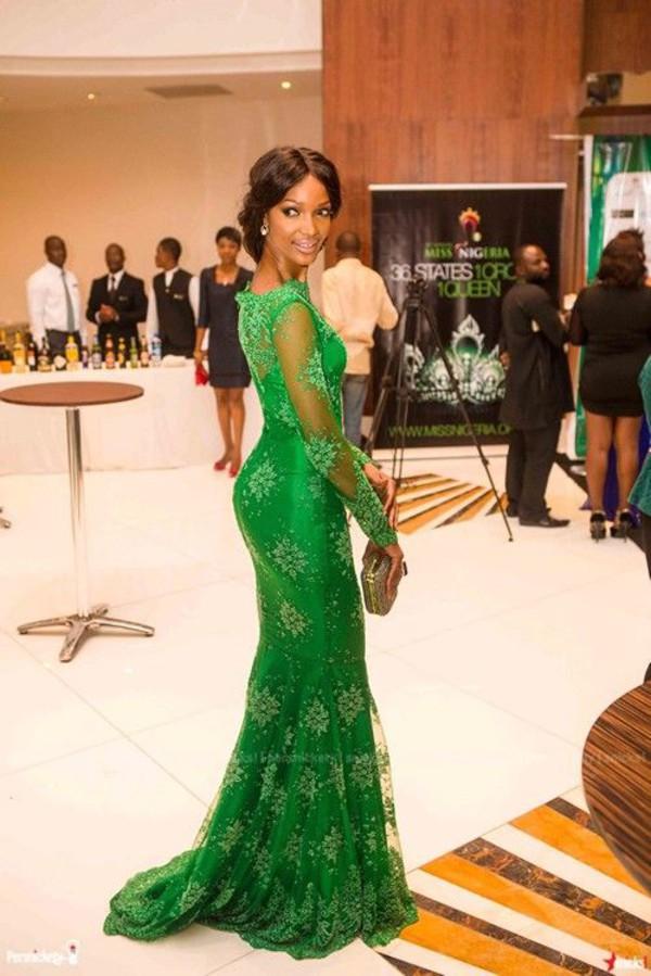 2014 New Arrival Red Carpet Miss Nigeria Mermaid Long