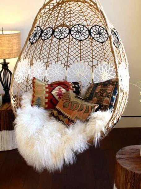 hanging ceiling chair black throne home accessory dreamcatcher swing