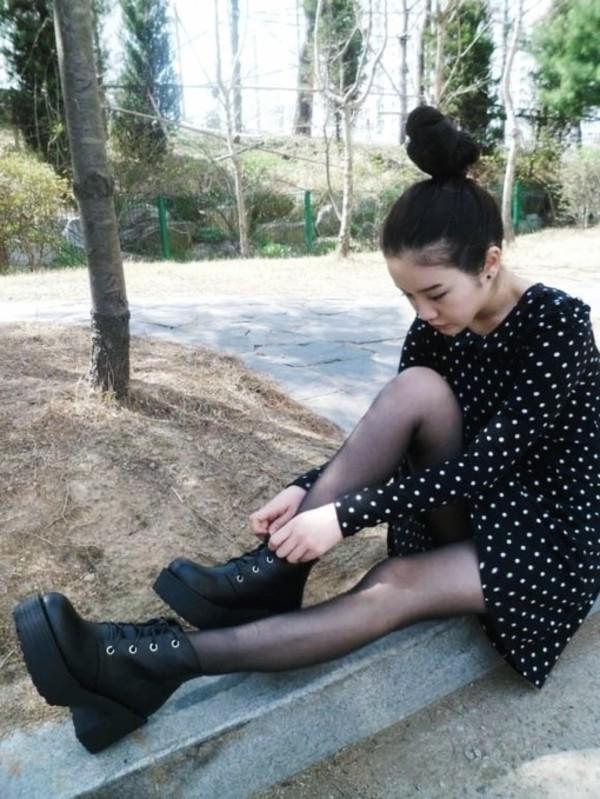 custom leather sofas queen sofa sleeper korean women shoes black platform chunky square ...