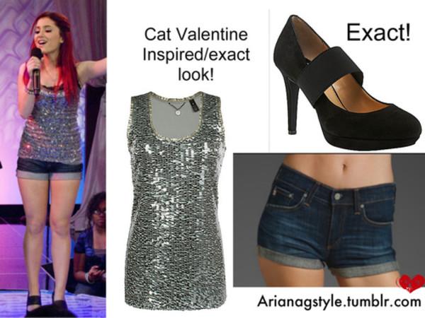 Top: Glitter, Cat Valentine, Victorious