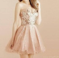 Dress: cute, pink, gold, homecoming dress, holiday dress ...