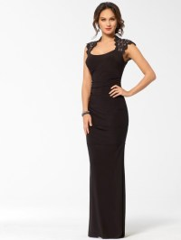 Dress: black, lace, prom, gown, long evening dress ...