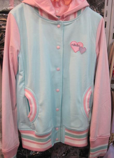Jacket pastel kawaii sportswear jock college japan