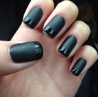 matte, nail polish, black nail polish, grunge - Wheretoget