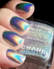chanel nail enamel - holographic