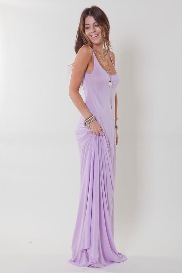 Dress Lilac Lavender Soft Summer Maxi Maxi Dress