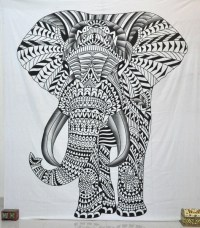Hippie elephant tapestry tapestries psychedelic wall ...