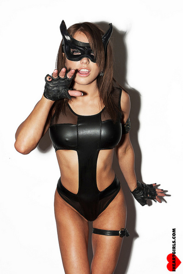 Swimwear bodysuit one piece catwoman leotard cosplay