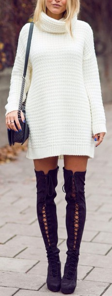 shoes style boots thigh highs thigh high boots lace