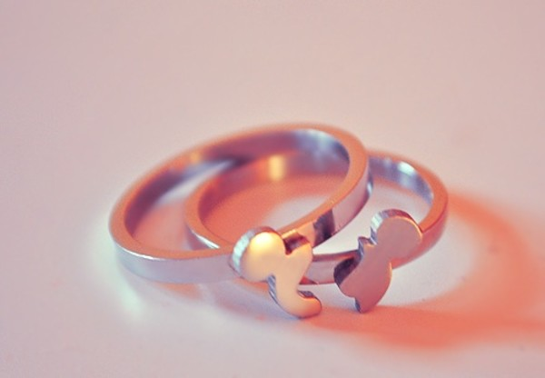 Jewels ring mickey mouse disney couple cute  Wheretoget