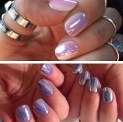 nail polish iridescent holographic