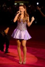 dress ariana grande purple