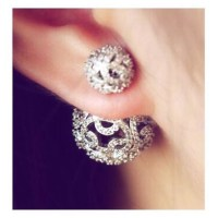 Jewels: body kandy couture, double earrings, filigree ...
