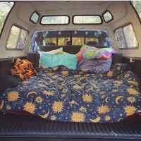 RARE Blue Sun Moon and Stars Celestial Blanket / Tumblr