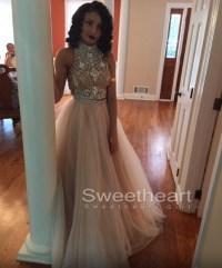 Sweetheart Girl | Custom Made Light Champagne Tulle Long ...