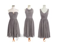 Grey bridesmaid dress, gray bridesmaid dresses, short ...
