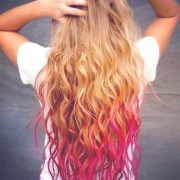 hair accessory pink purple blue