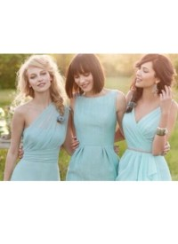 Dress: mint green chiffon, mint green bridesmaid dress ...