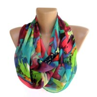 neon infinity scarf women scarves summer spring fashion ...