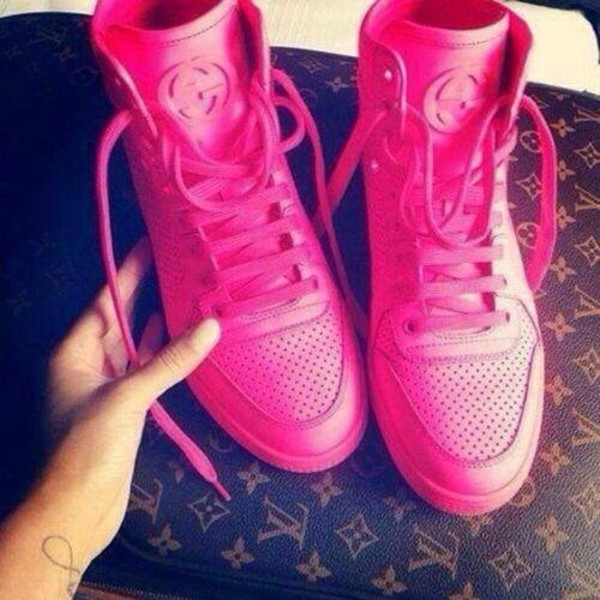 Jordans Wallpaper For Girls Shoes Gucci High Top Sneakers Pink Neon Wheretoget
