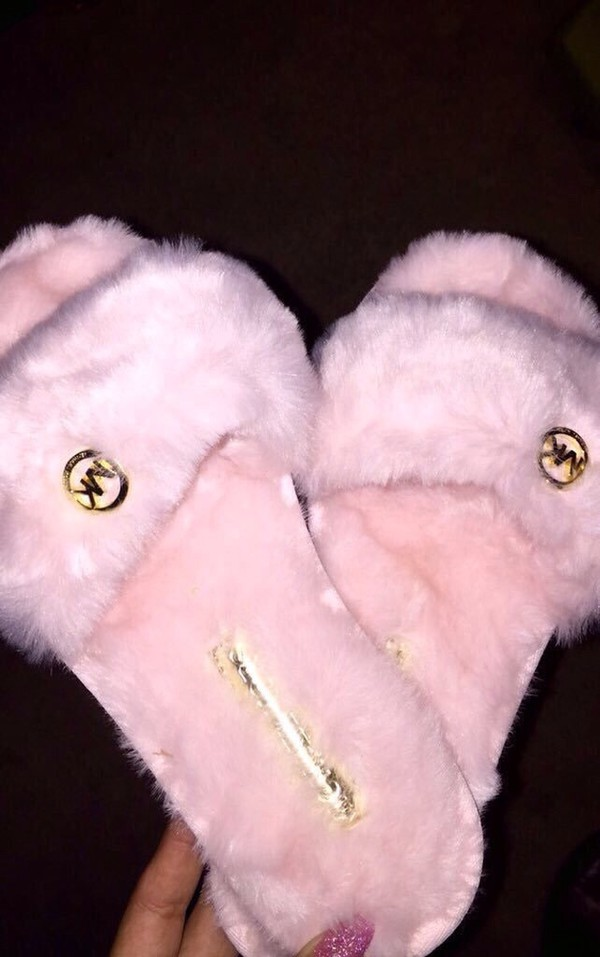 rose slide shoes shoes slippers michael kors pink