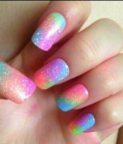 nail polish rainbowcolors gel