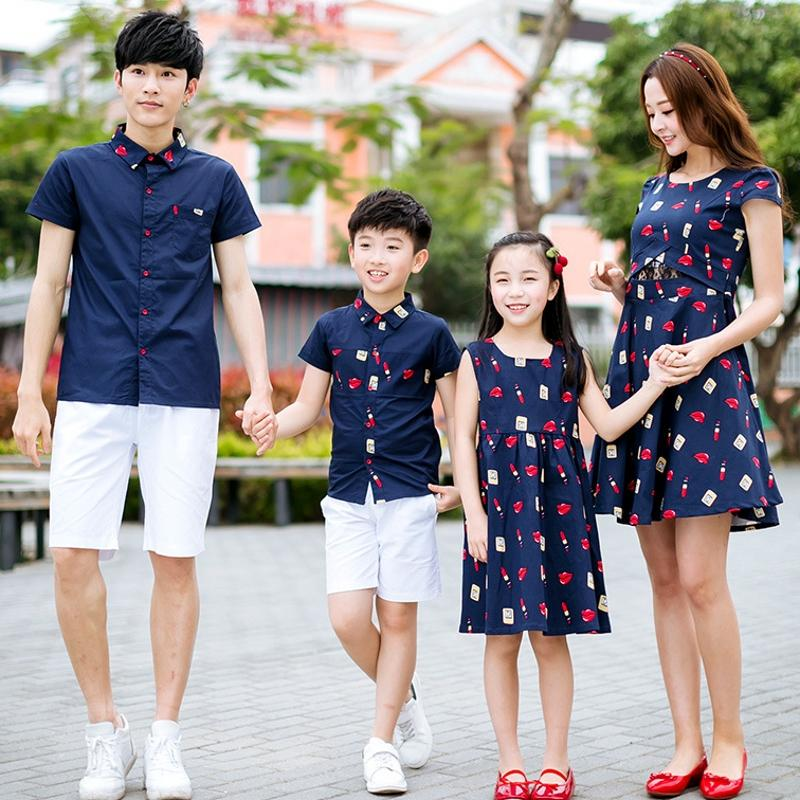 fashion summer family matching