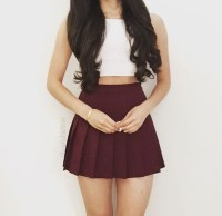Top: crop tops, crop tops, cute outfits, burgundy, white ...