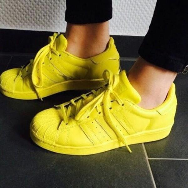Adidas Superstar 1 Pharrell Supercolour Bright Yellow