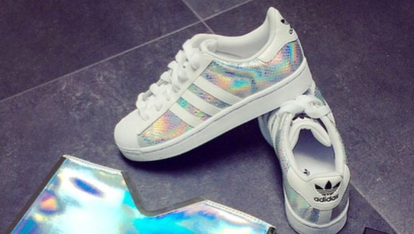 Shoes holographic adidas sneakers  Wheretoget