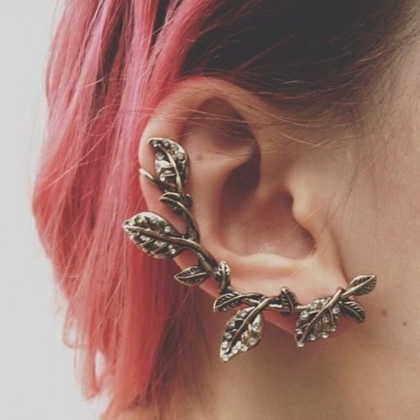 Jewels: earrings, earrings, cool, flowers, leaves, dope