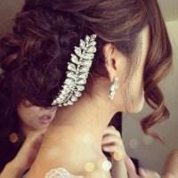 Jewels: hair, bun, wedding, hair accessory, wedding ...