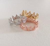 Princess Crown Ring - Tiara Ring - Stackable Ring ...