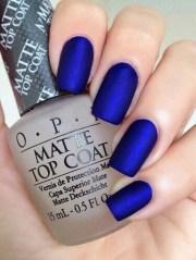 nail polish blue nails matte