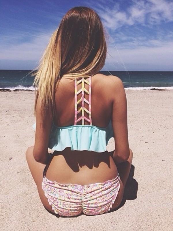 Ladderback Flounce Top  PINK  Victorias Secret