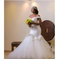 2016 Plus Size African Mermaid Wedding Dresses Aso Ebi