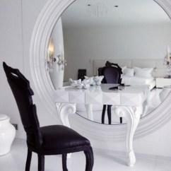Bedroom Dressing Table Chair Swivel Lock White Mirror Luxury Luxurious Glamgerous Black Design Shoppable Tips