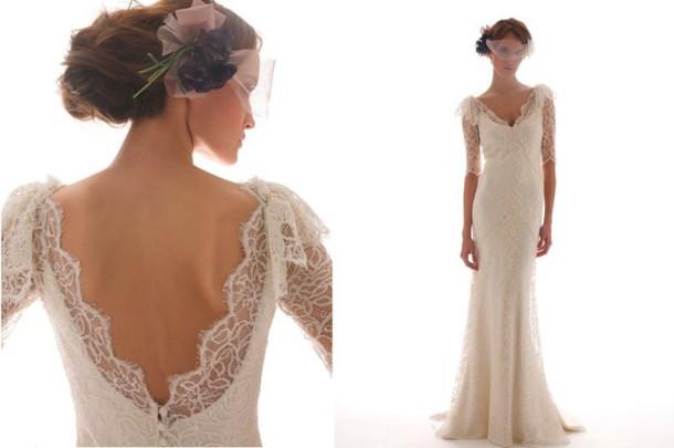 Dress, Historical, Romantic, Bridal Gown, Vintage, Lace