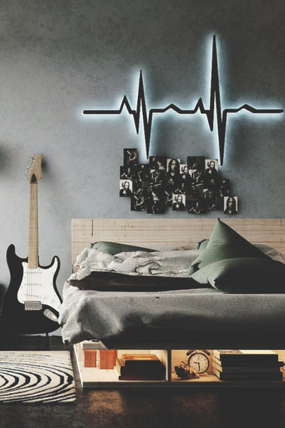 Home Accessory Pulse Heartbeat Light Nightlght Wall