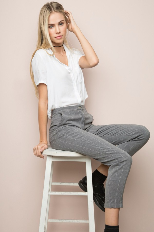 Image result for brandy melville plaid pants