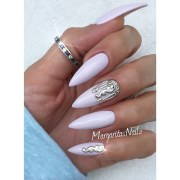 nail accessories art silver