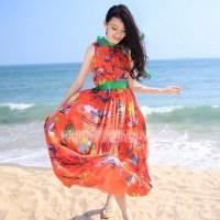 dress, orange, orange dress, beach, beach dress ...