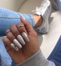 nail accessories, metallic nails, nails, iridescent, shoes ...