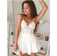 Dress: boho dress, white dress, cute dress, cute, short ...