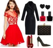 skinny hipster red dress